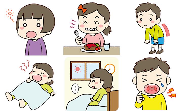 口呼吸による機能障害の兆候